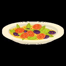 Ilustración de comida árabe de ensalada fattoush