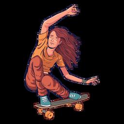 Personagem de skatista feminina