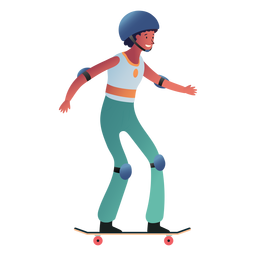 Female skater character woman