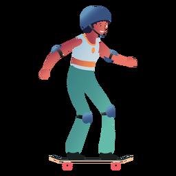 Mulher de caráter feminino skatista