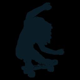 Personaje de skater femenino negro