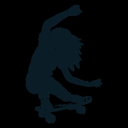 Female skater character black Transparent PNG