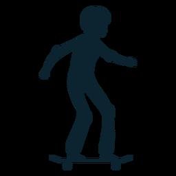Silueta femenina del patinador