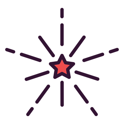 Fireworks usa icon Transparent PNG