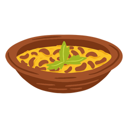 Foul meddamas arabic food illustration