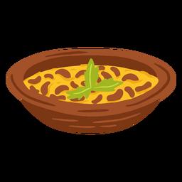 Ilustración de comida árabe de meddamas asqueroso