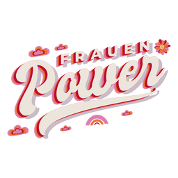 Frauen power german lettering