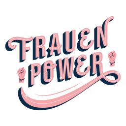 Frauen power lettering