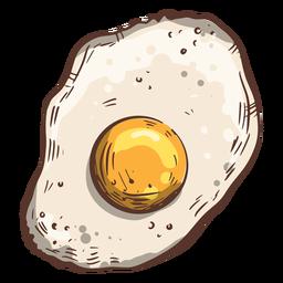 Ilustración de huevo frito