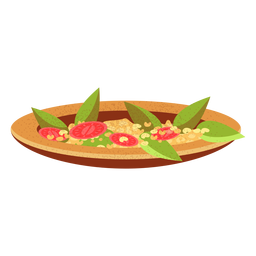 Ful medames arabic food illustration