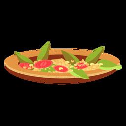Ilustración de comida árabe de medames ful