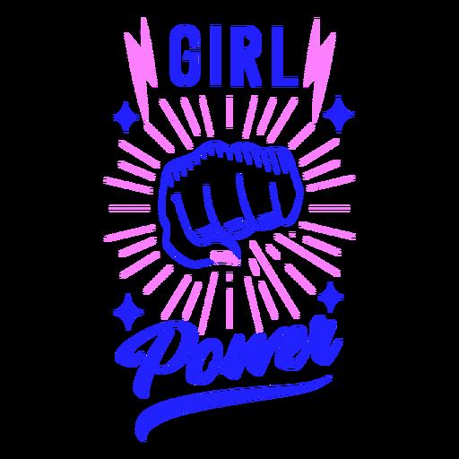Girl power badge design