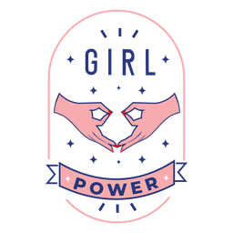 Girl power design badge