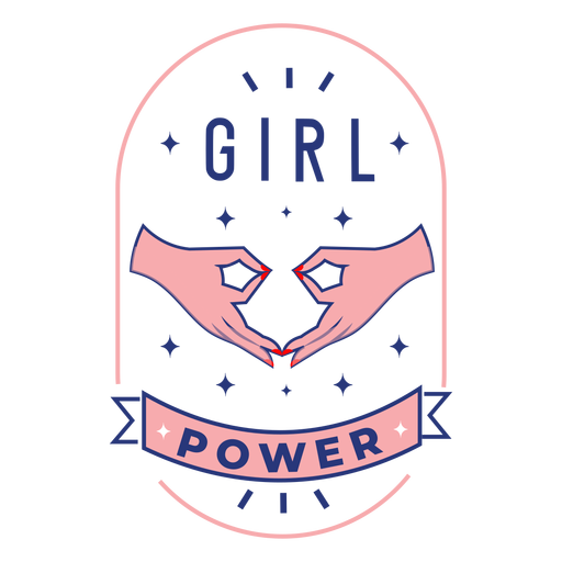 Girl power design badge Transparent PNG