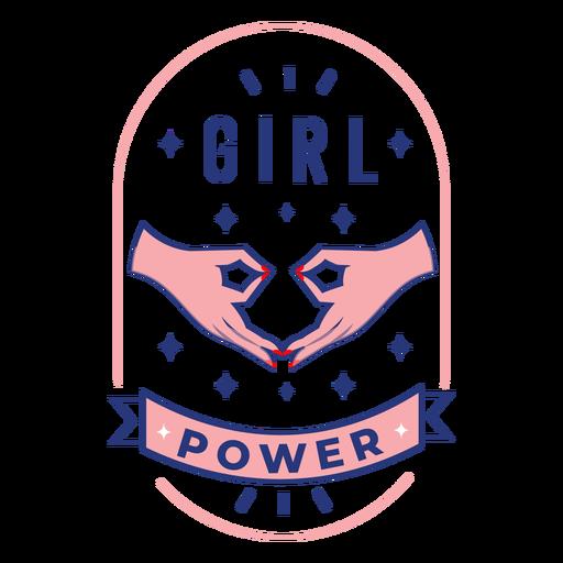 Girl power design badge