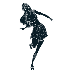 Personagem de patins menina preto