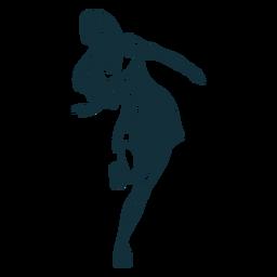 Mädchen Rollerskating Charakter schwarz und weiß