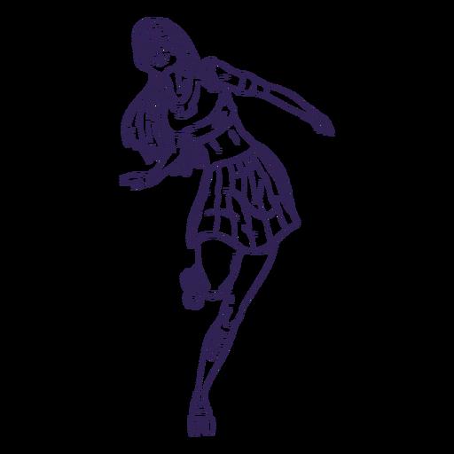 Mão de personagem de patins menina desenhada Transparent PNG