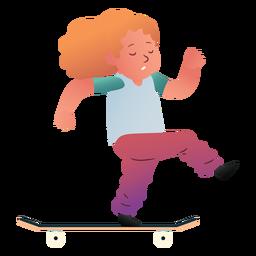 Girl skate character