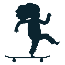 Girl skate silhouette