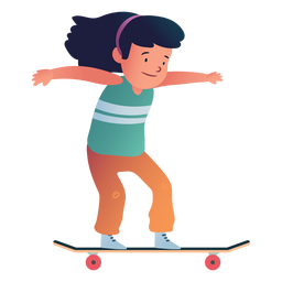 Personaje de niña patinadora