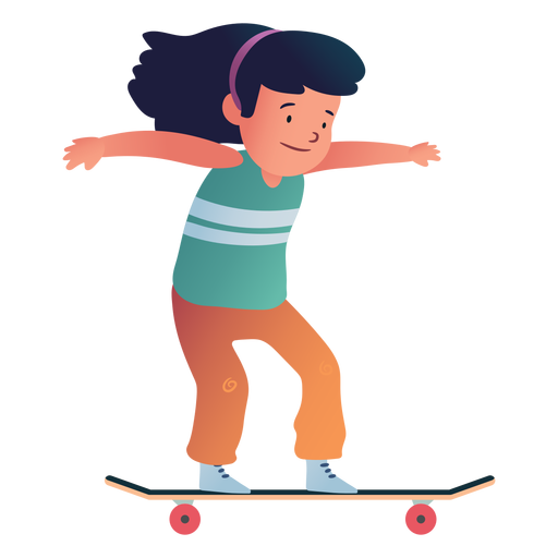 Girl skater character Transparent PNG