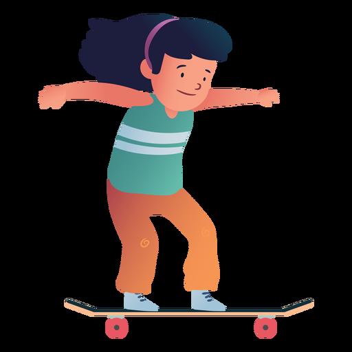Girl skater character