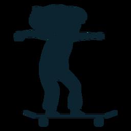 Girl skater silhouette