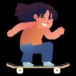 Personaje de patinaje de niña
