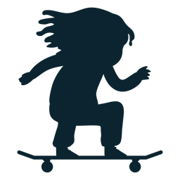 Silueta de patinaje de niña