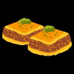 Ilustración de comida árabe gulash