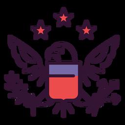 Grande selo do ícone dos eua