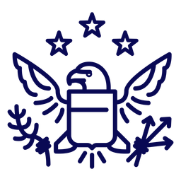Great seal of usa stroke
