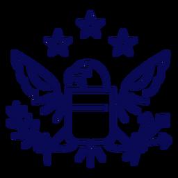 Tolles Siegel des USA-Schlaganfalls
