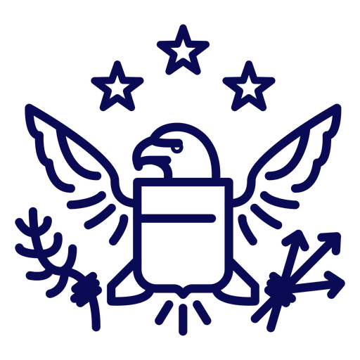 Great seal of usa stroke Transparent PNG
