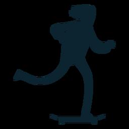 Silhueta de skatista de cara