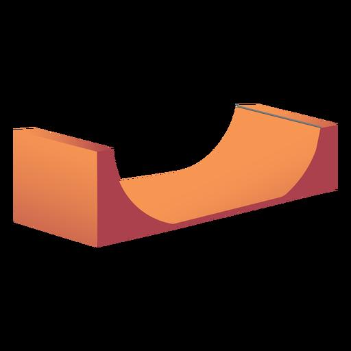 Half pipe skate ramp