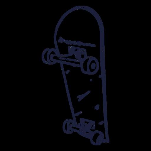 Hand drawn skateboard