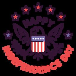 Feliz día de la independencia insignia