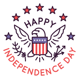 Happy independence day badge