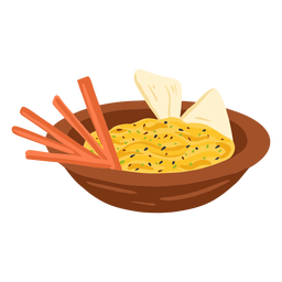 Hummus arabic food illustration