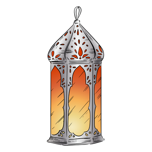 Illustration arabic lantern