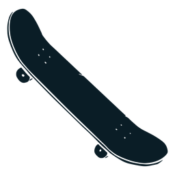 Illustration black skateboard