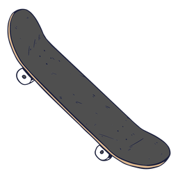 Illustration grey skateboard