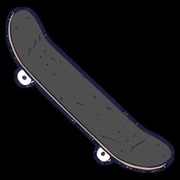 Ilustração de skate cinza