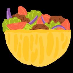 Ilustración de comida árabe kebab
