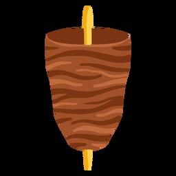 Kofta arabic food illustration