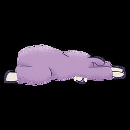 Llama child pose yoga
