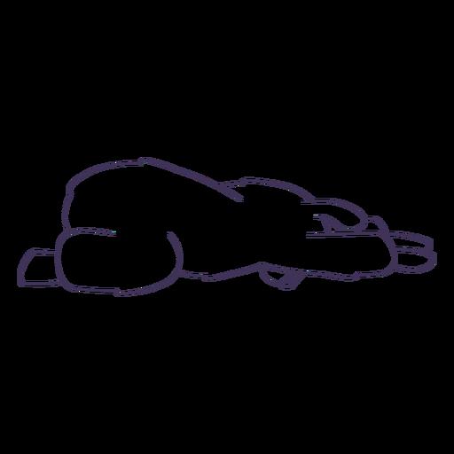 Llama niño pose trazo de yoga