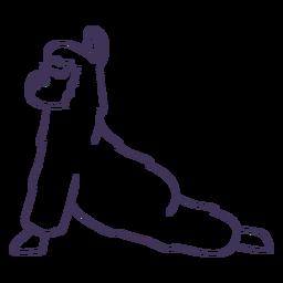 Llama trazo de yoga perro boca arriba